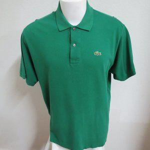 Sz XL 8 Green Lacoste Mens Cotton #14N Polo *snag